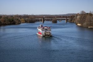 Boat tours on the Austin waterfront